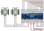 Installation diagram: 12V motion sensors connected to the controller